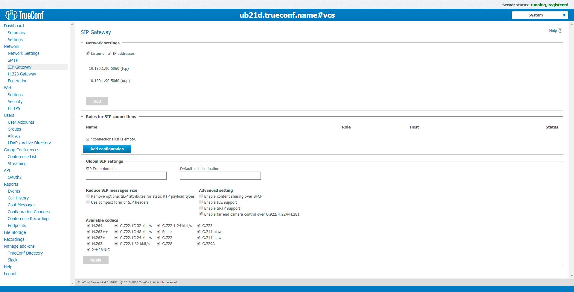 client application TrueConf for Windows